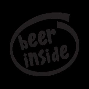 Стикер за кола Beer Inside