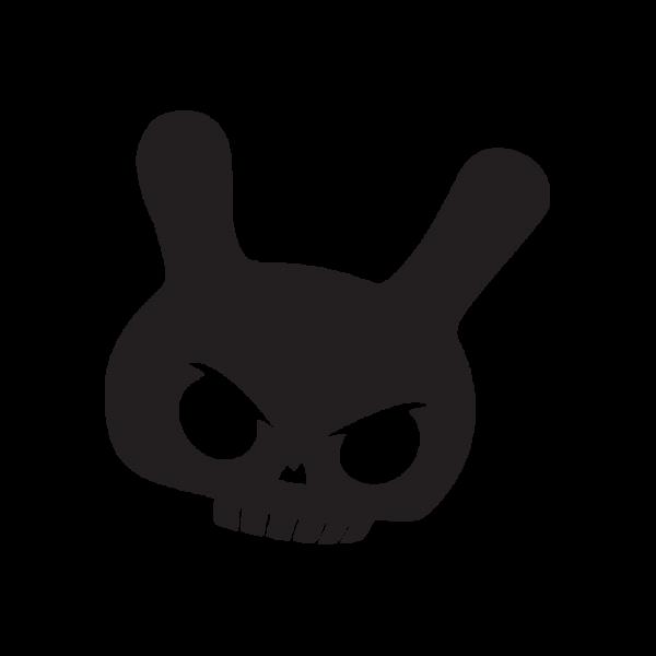 Стикер за кола - Evil Bunny Skull