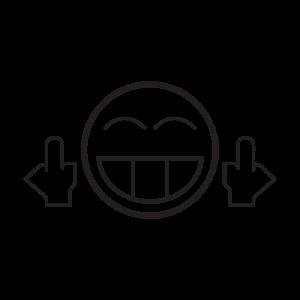 Стикер за Кола - JDM Smiley Shocker Fuck You