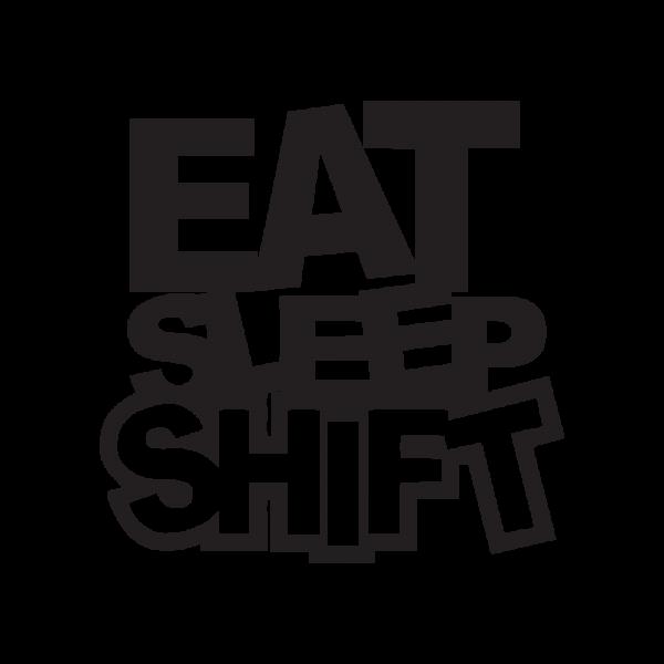Стикер за кола - Eat Sleep Shift