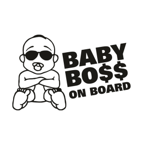 Стикер за кола Baby Boss on Board 02
