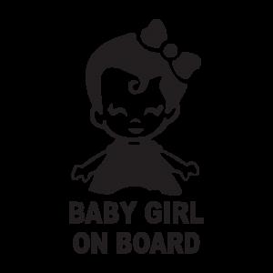 Стикер за кола Baby Girl on Board