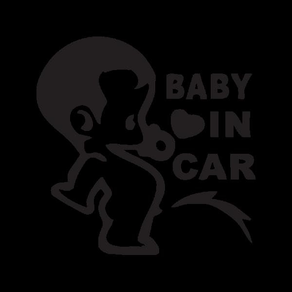 Стикер за кола - Baby in car
