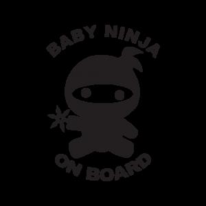 Стикер за кола - Baby Ninja ot board