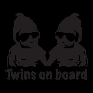 Стикер за кола Близнаци на борда