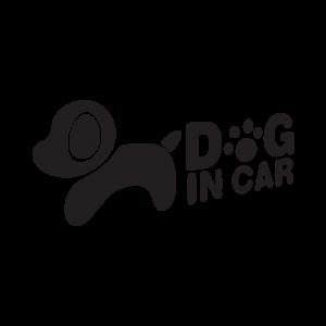 Стикер за кола - Куче в колата / Dog in Car