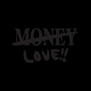 Стикер за кола Любов а не пари