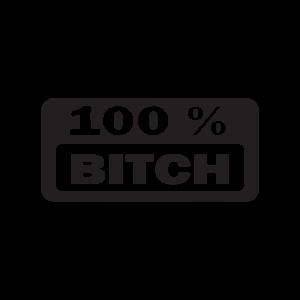 Стикер за кола - 100% Bitch