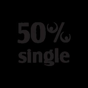 Стикер за кола - 50% Single