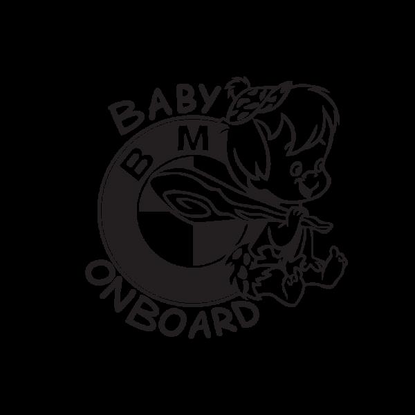 Стикер за кола Baby BMW Boy on Board
