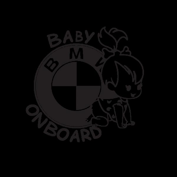 Стикер за кола Baby BMW Girl on Board