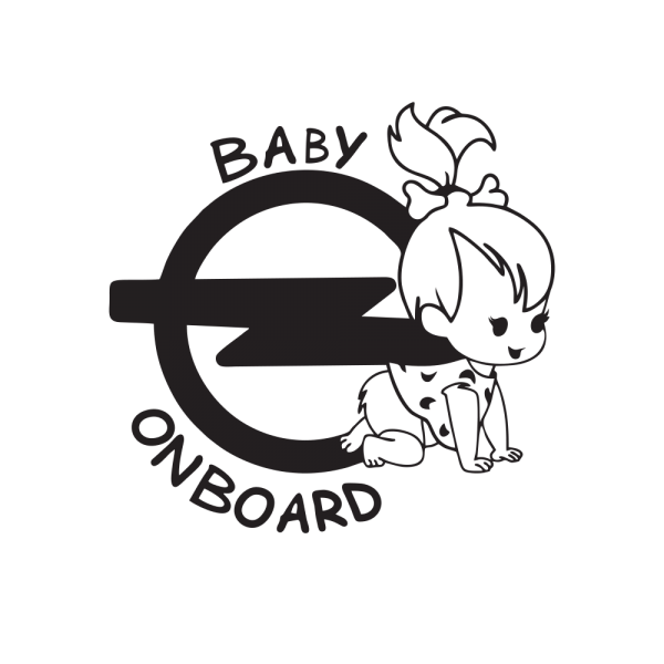 Стикер за кола Baby Opel Girl on Board