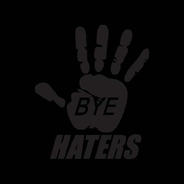 Стикер за кола Bye Haters