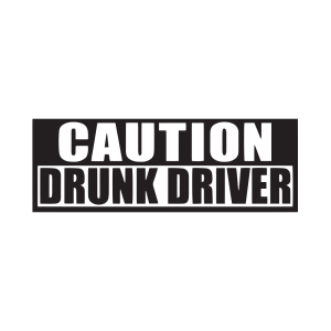 Стикер за кола Caution Drunk Driver