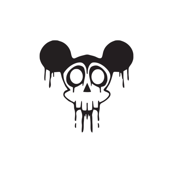 Стикер за кола - Mickey Mouse Skull