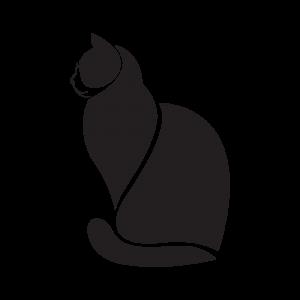 Стикер за кола - Черна котка
