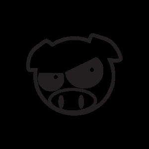 Стикер за кола Crazy Pig