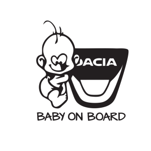 Стикер за кола Dacia Baby on Board