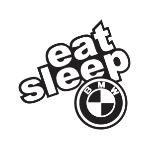 Стикер за кола - Eat Sleep BMW