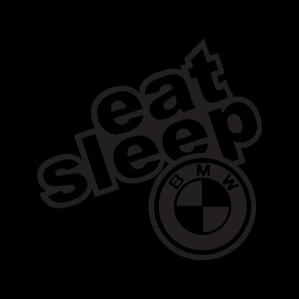 Стикер за кола - Eat Sleep BMW