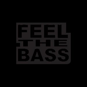 Стикер за кола - Feel the Bass
