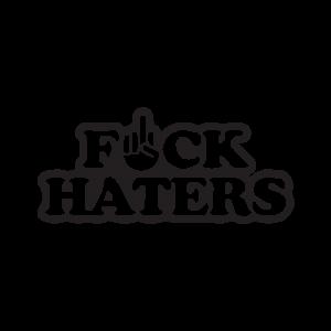 Стикер за кола Fuck Haters