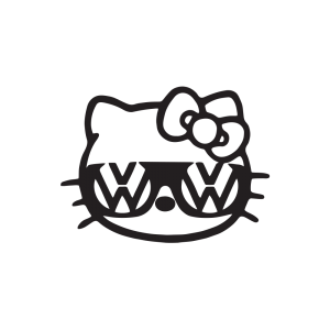 Стикер за кола Hello Kitty VW