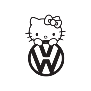 Стикер за кола Hello Kitty VW 02