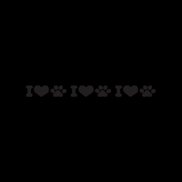 Стикер за кола - I love Animals