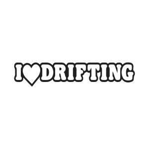 Стикер за кола I Love Drifting