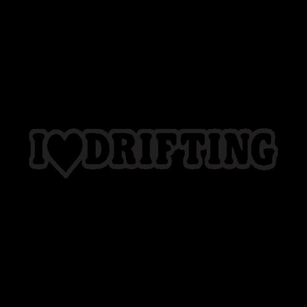 Стикер за кола I Love Drifting