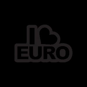 Стикер за кола I Love Euro