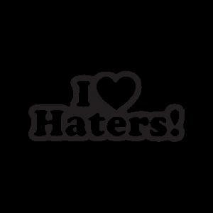 Стикер за кола I Love Haters