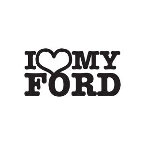 Стикер за кола I Love my Ford