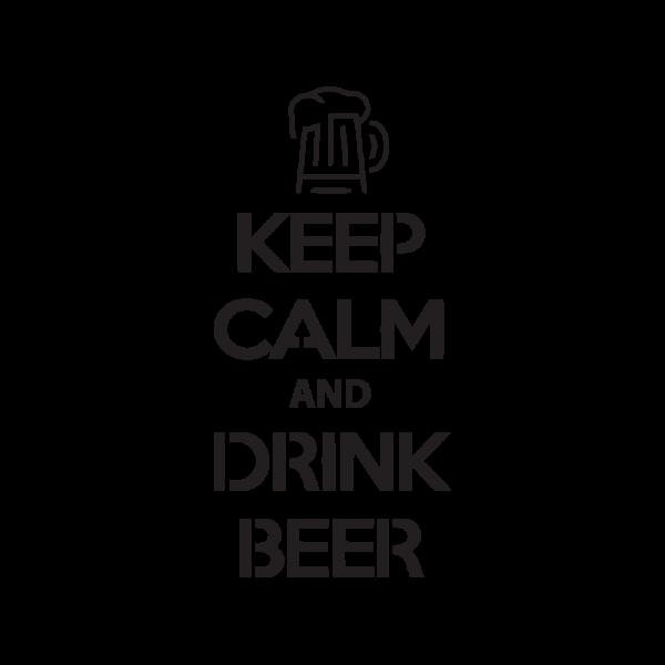 Стикер за кола - Keep Calm and Drink Beer