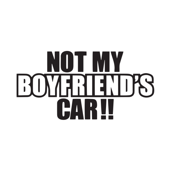 Стикер за кола Not Boyfriend's Car!!