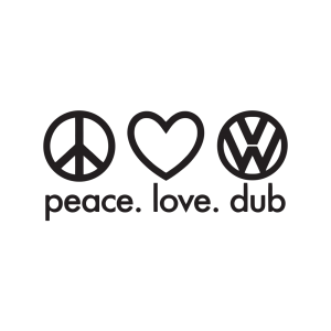 Стикер за кола Peace. Love. Dub.