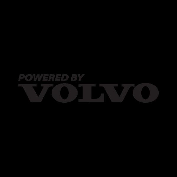 Стикер за кола Powered By Volvo