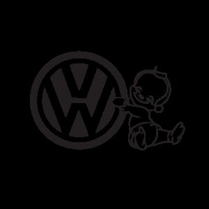 Стикер за кола Baby on Board VW
