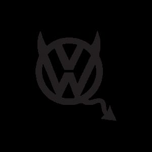 Стикер за кола VW Демонче
