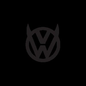 Стикер за кола VW Демонче 02