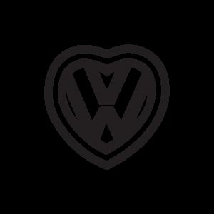 Стикер за кола VW Сърце