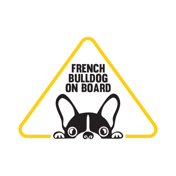 Стикер за кола - French Bulldog on Board