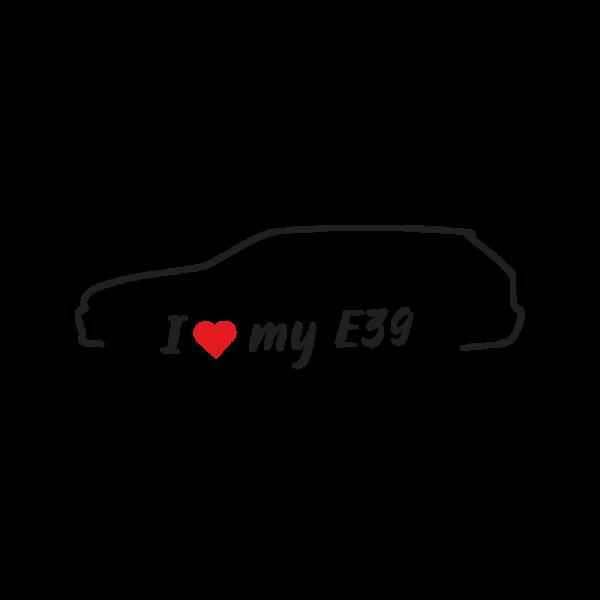 Стикер за кола - I love my BMW E39