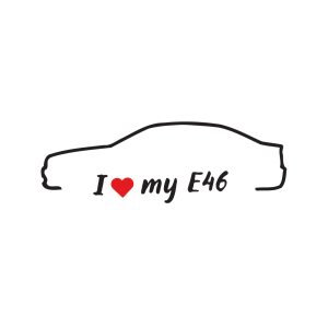 Стикер за кола - I love my BMW E46