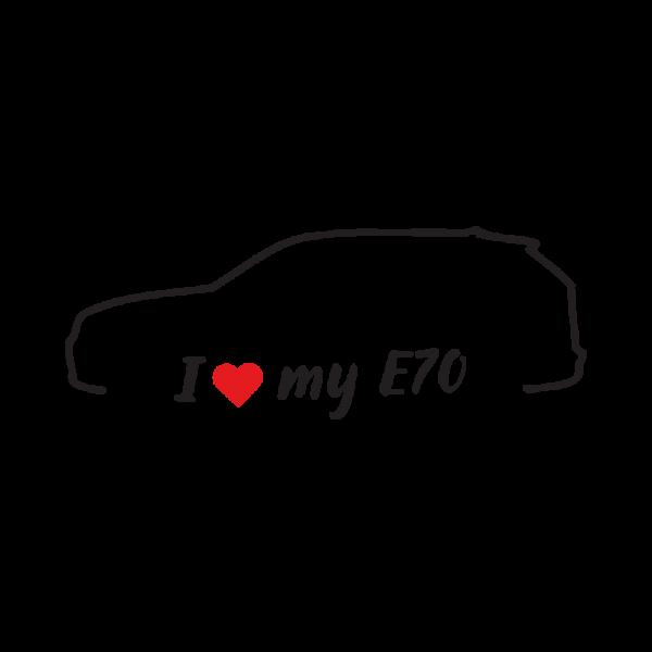 Стикер за кола - I love my BMW E70