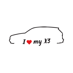 Стикер за кола - I love my BMW X3