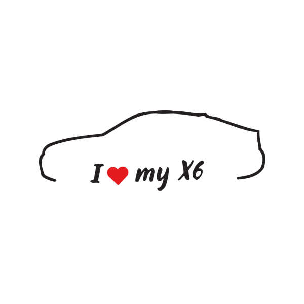 Стикер за кола - I love my BMW X6