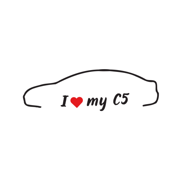 Стикер за кола - I love my Citroen C5