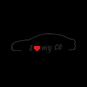 Стикер за кола - I love my Citroen C6